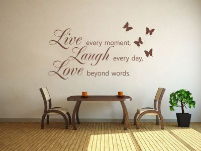 LIVE LAUGH LOVE Wall Art Sticker -Wall Sticker, Decal, Vinyl Transfer